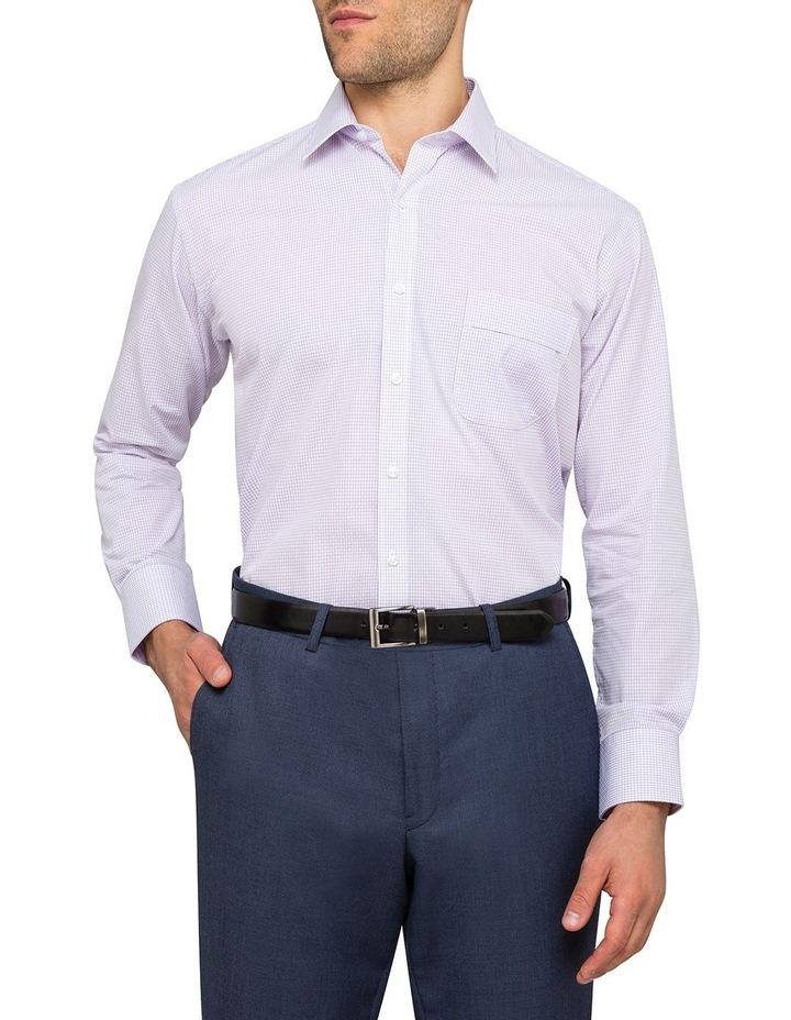 Lilac Check Business Shirt image 2