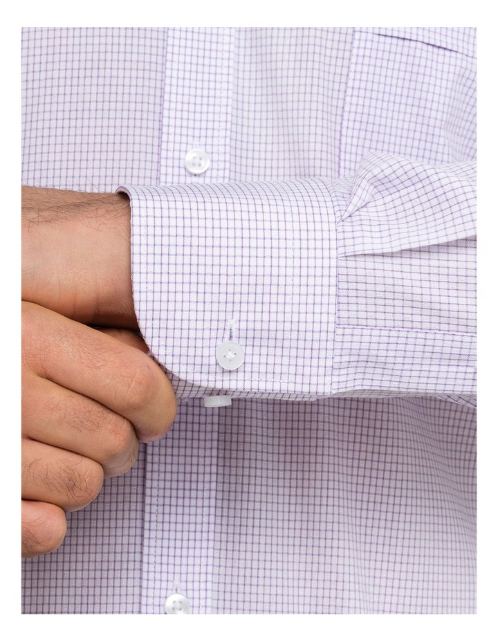 Lilac Check Business Shirt image 4