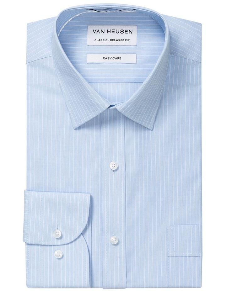 Blue Yarn Dyed Stripe Business Shirt image 1
