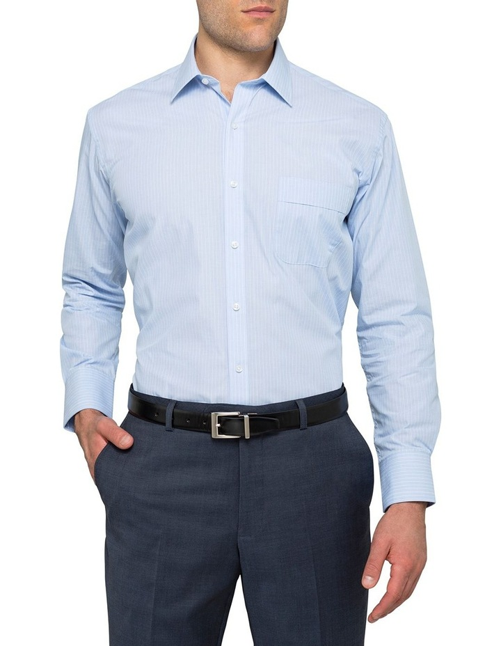 Blue Yarn Dyed Stripe Business Shirt image 2