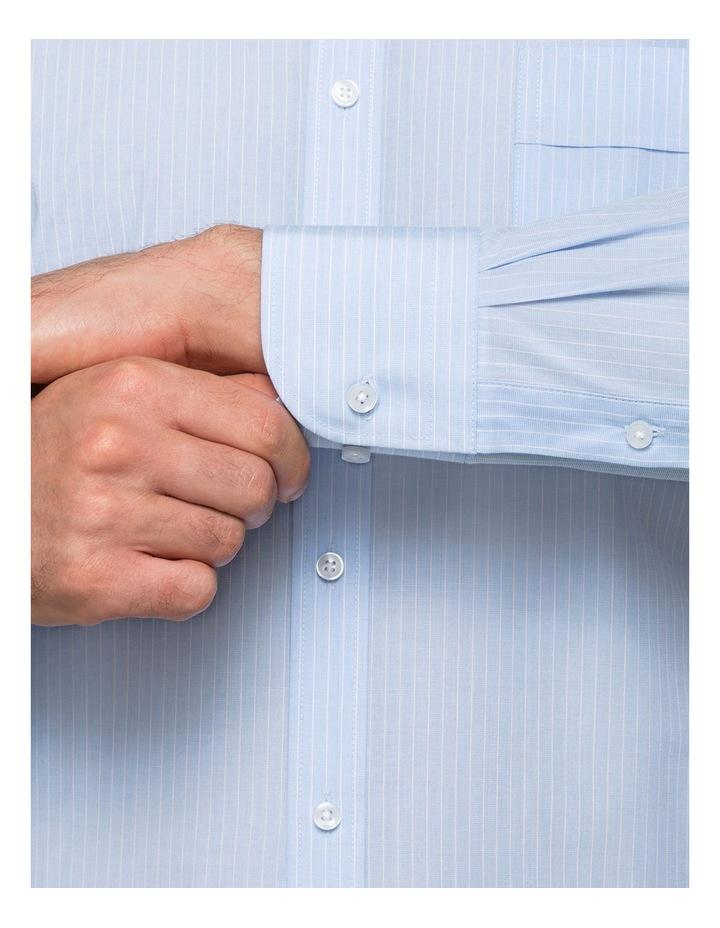 Blue Yarn Dyed Stripe Business Shirt image 4