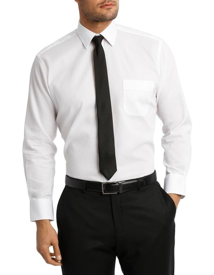 White Self Dobby Business Shirt image 1
