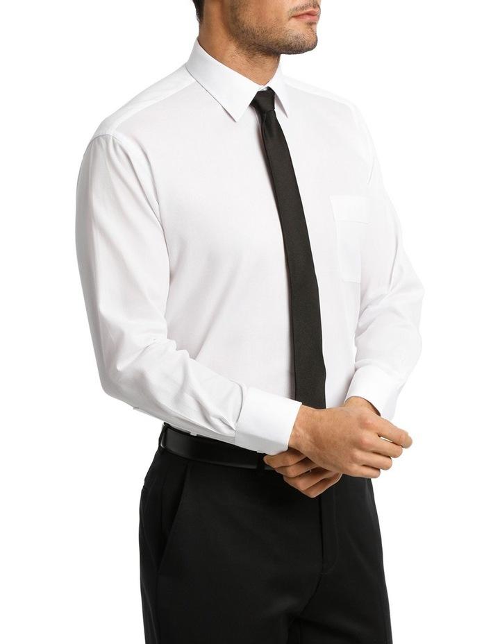 White Self Dobby Business Shirt image 2