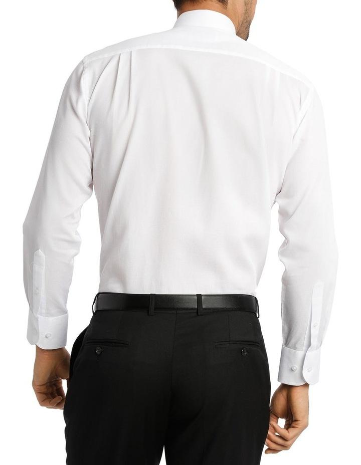 White Self Dobby Business Shirt image 3