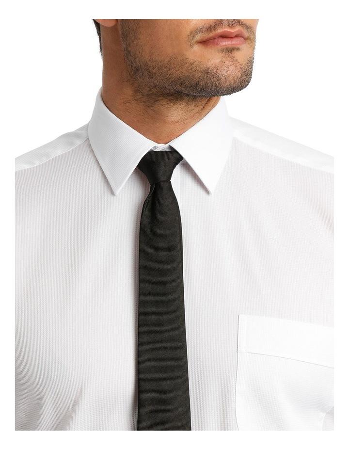 White Self Dobby Business Shirt image 4