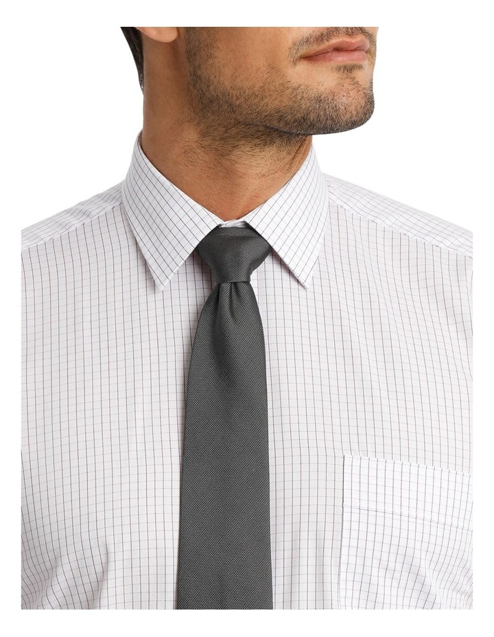 White Ground Fine Mauve Check Business Shirt image 4
