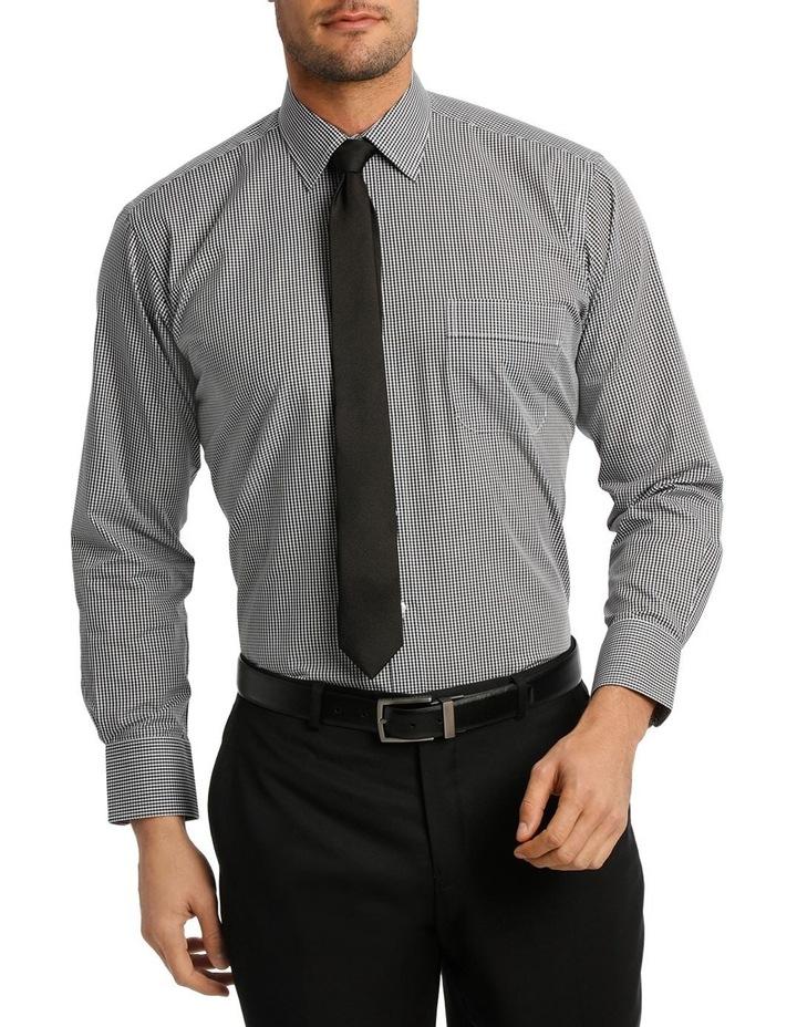 White & Black Dobby Check Business Shirt image 1