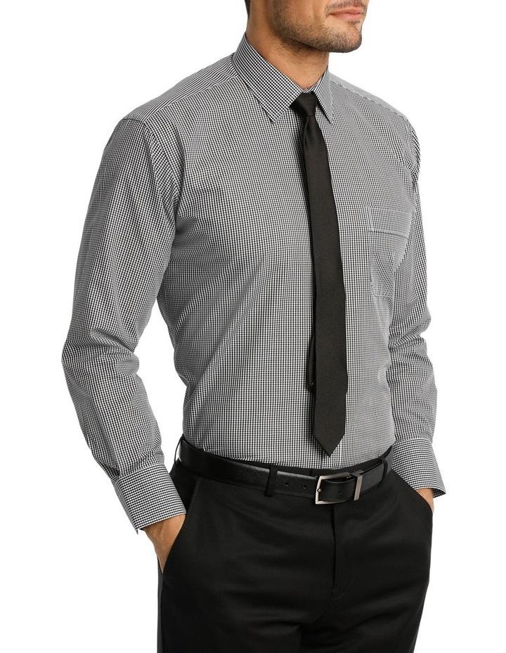 White & Black Dobby Check Business Shirt image 2