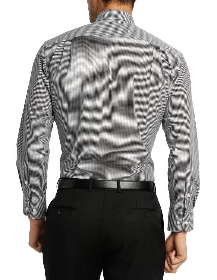 White & Black Dobby Check Business Shirt image 3