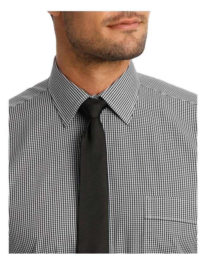 White & Black Dobby Check Business Shirt image 4
