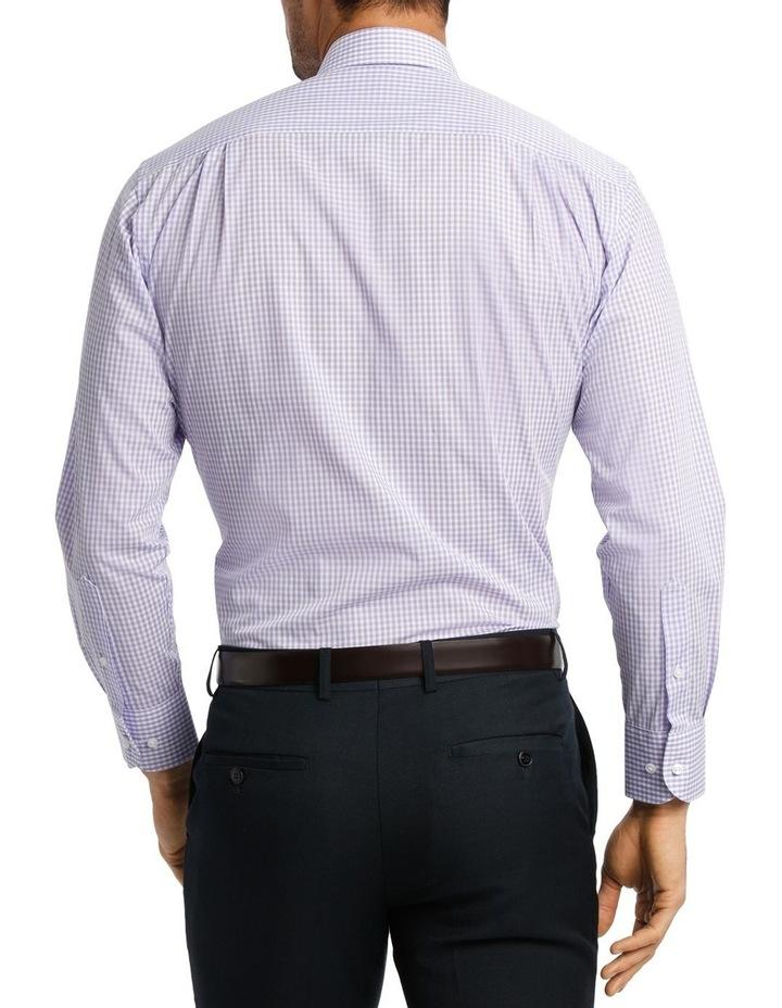 White & Mauve Check Business Shirt image 3