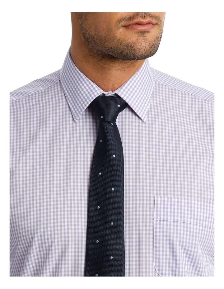 White & Mauve Check Business Shirt image 4