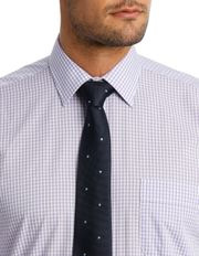Van Heusen - White & Mauve Check Business Shirt