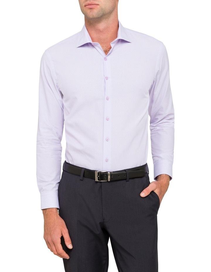Slim Mauve Diamond Dobby Business Shirt image 1