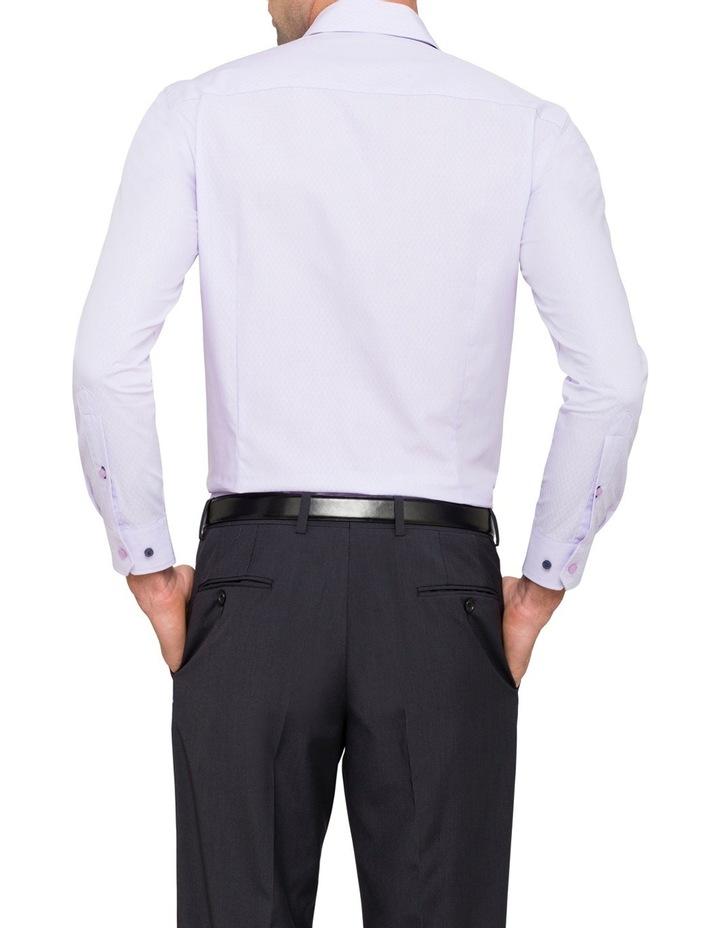 Slim Mauve Diamond Dobby Business Shirt image 2