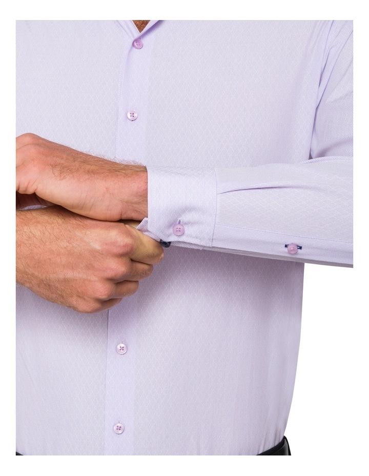 Slim Mauve Diamond Dobby Business Shirt image 3