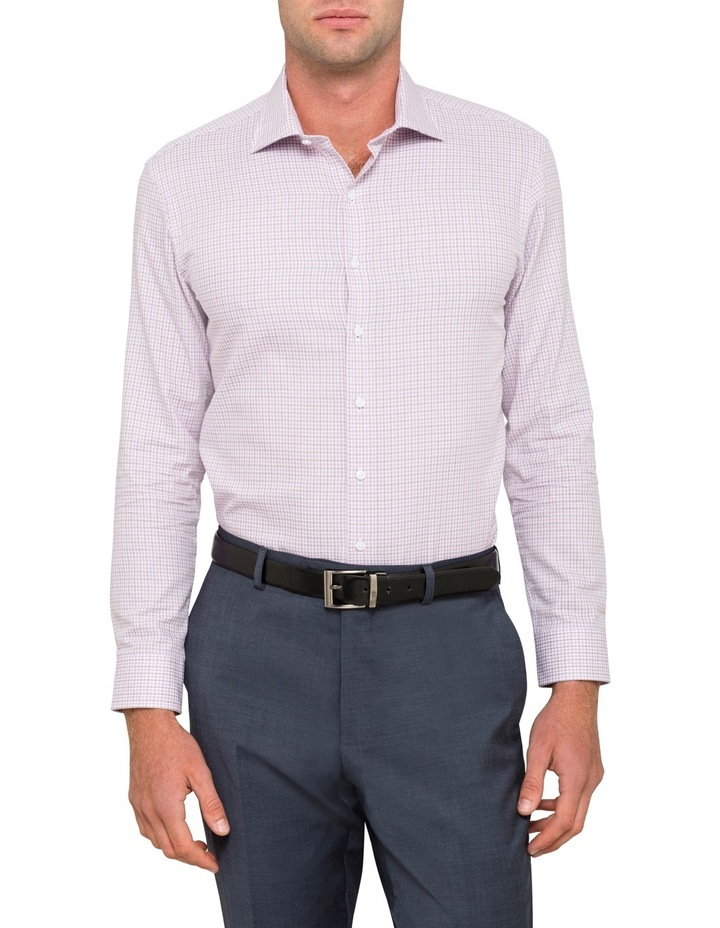 Slim Lilac Check Business Shirt image 1