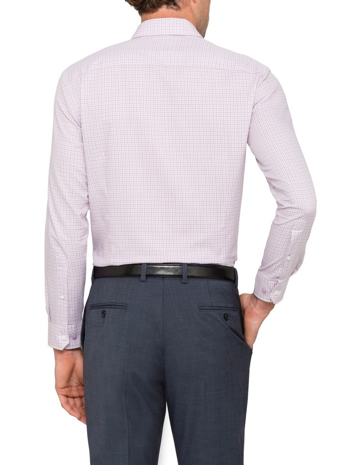 Slim Lilac Check Business Shirt image 2