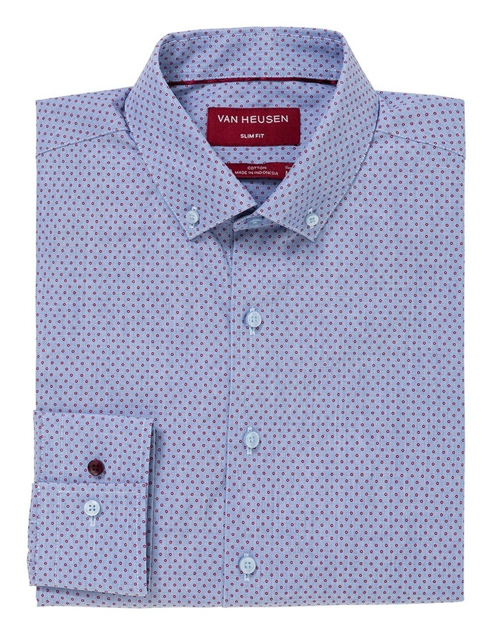 Blue With Red Dots Business Shirt image 1