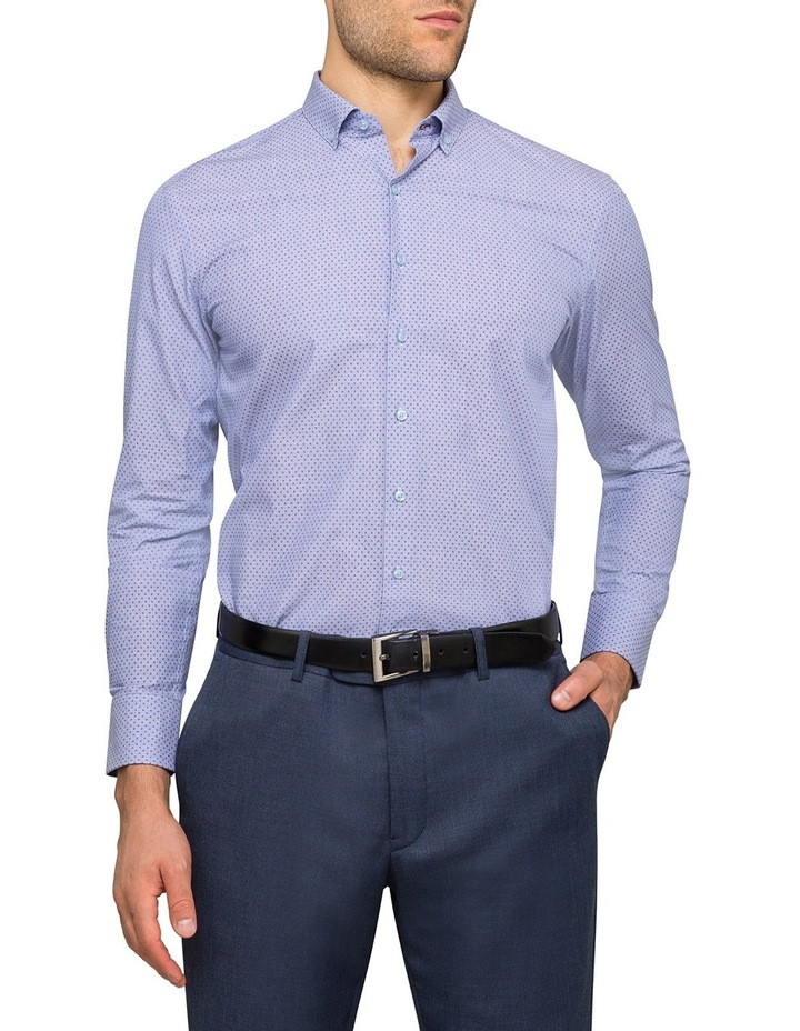 Blue With Red Dots Business Shirt image 2