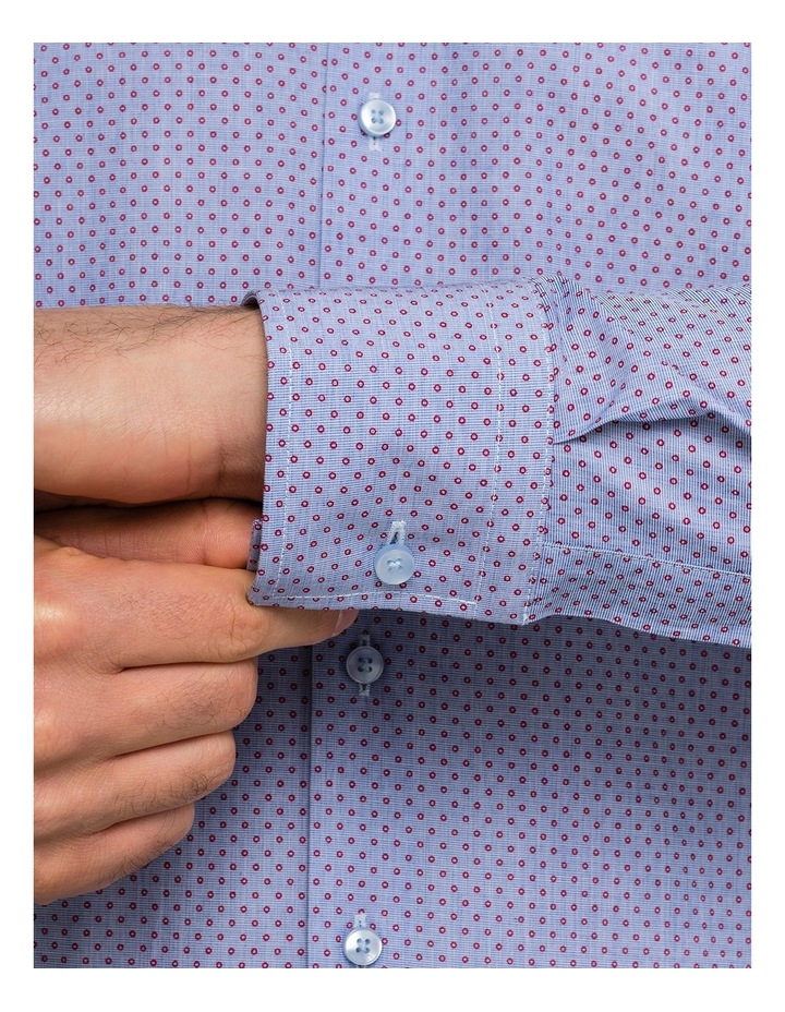 Blue With Red Dots Business Shirt image 4