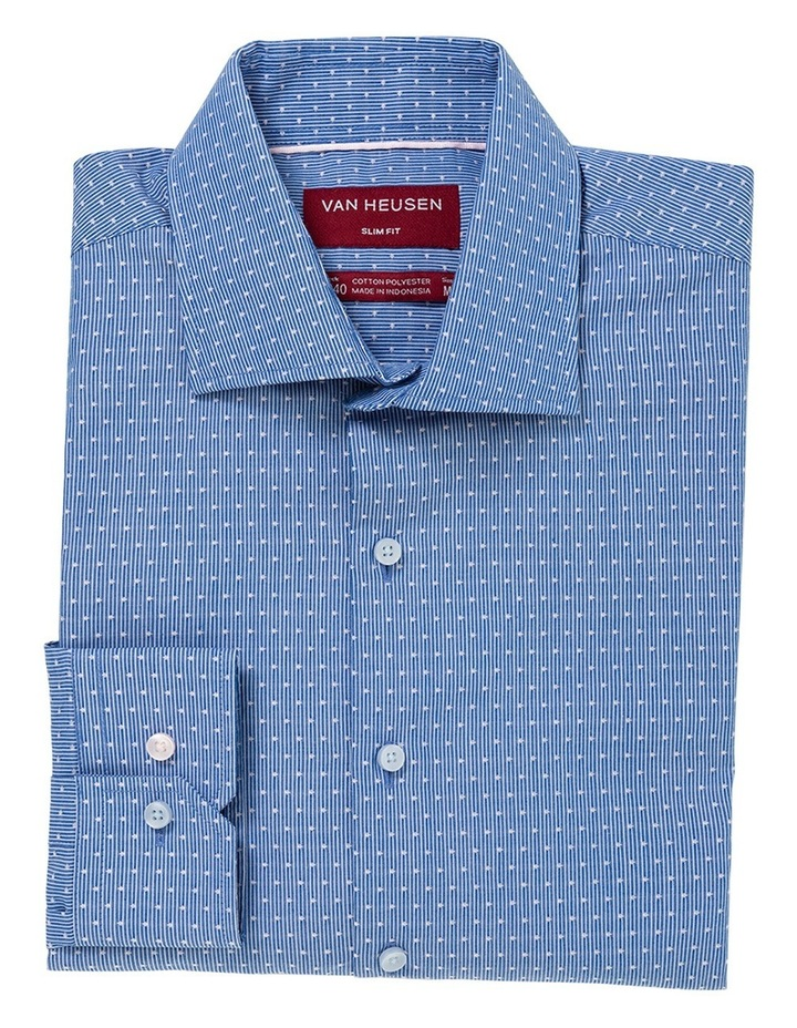 Blue With White Spot Business Shirt image 1