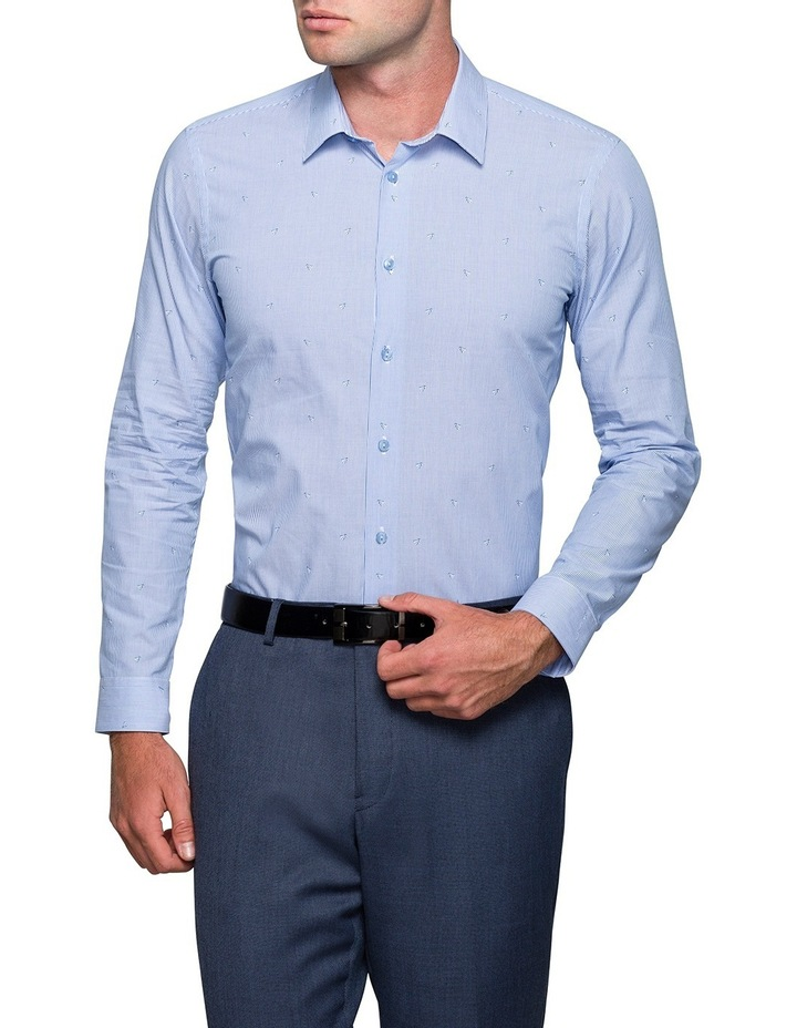 Blue Shuttlecock Dobby Business Shirt image 1