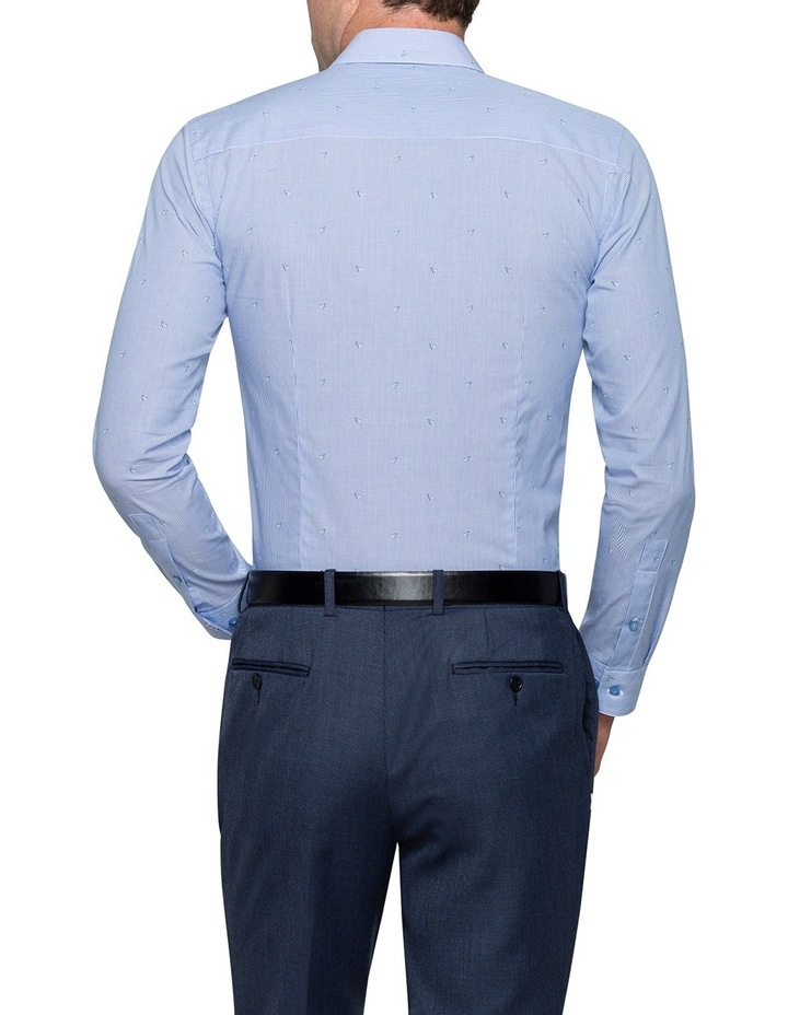 Blue Shuttlecock Dobby Business Shirt image 2
