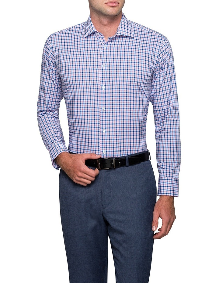 Blue & Red Check Business Shirt image 1