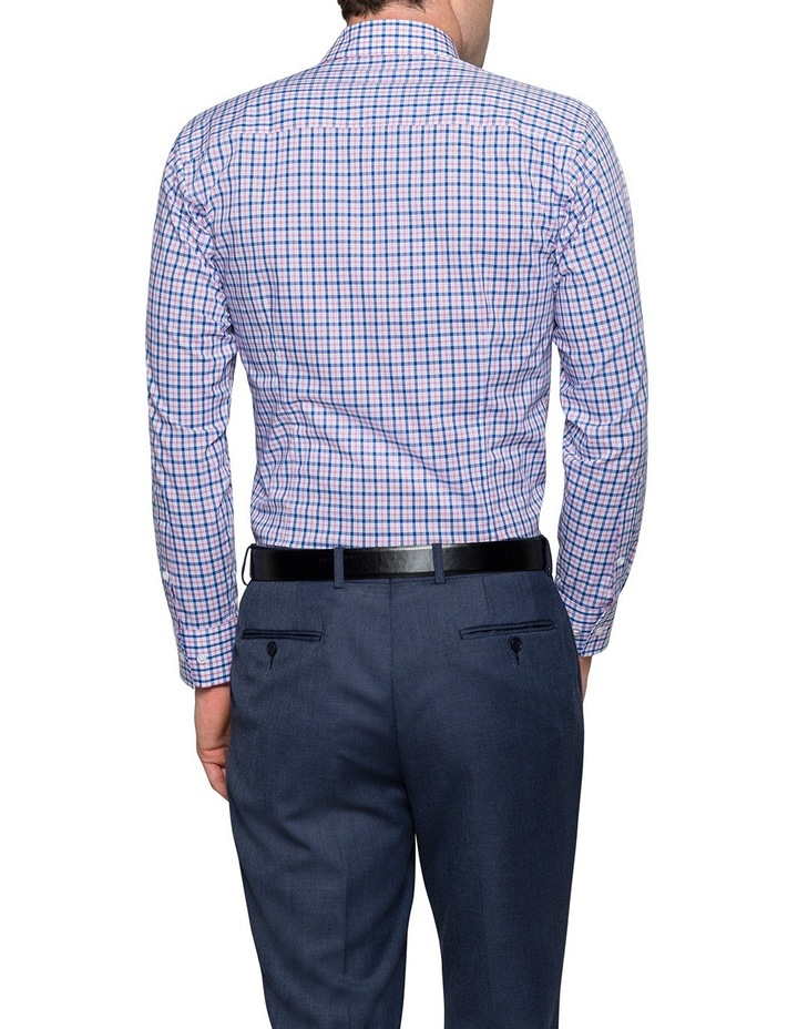 Blue & Red Check Business Shirt image 2