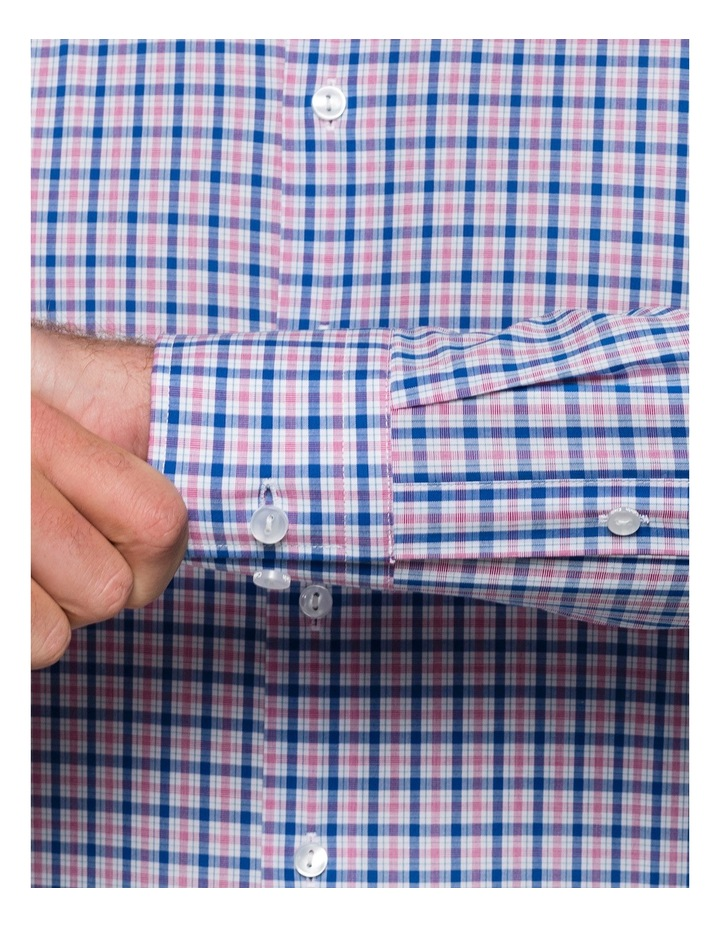 Blue & Red Check Business Shirt image 3