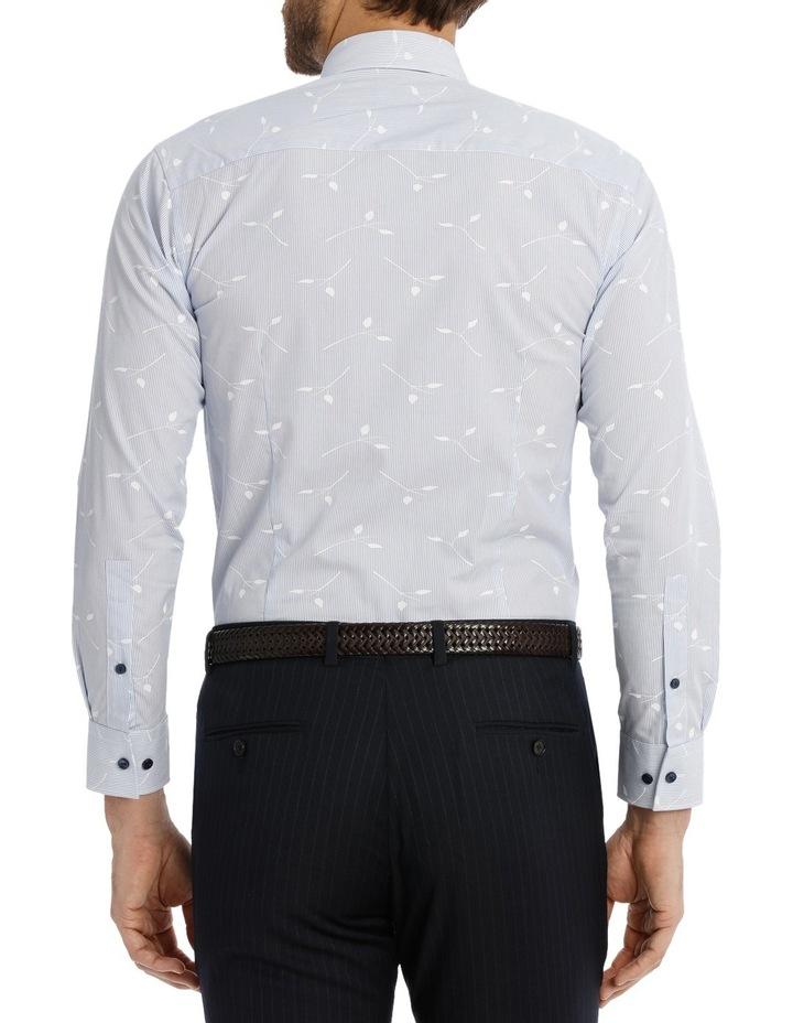 Blue Yard Dyed Stripe Overleaf Dobby Business Shirt image 3