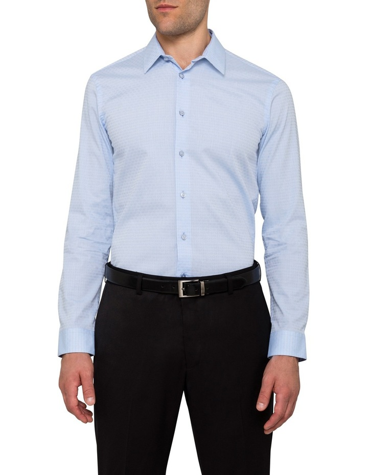 Sky with Red Jacquard Dobby Business Shirt image 1