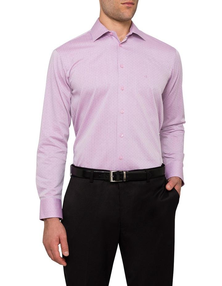 Oxblood Herringbone Jacquard Business Shirt image 1