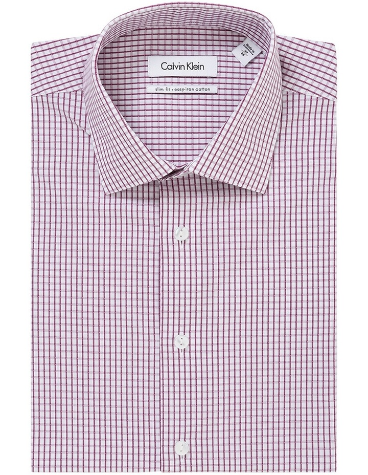 Oxblood Dobby Check Business Shirt image 1