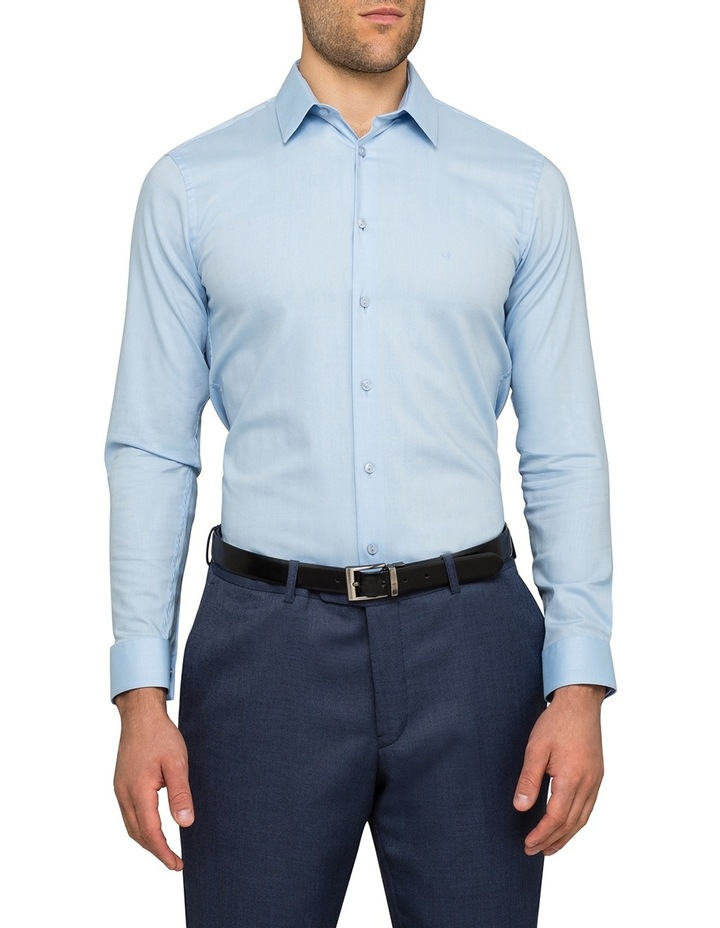 Sky Herringbone Stripe Business Shirt image 2