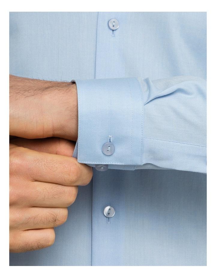 Sky Herringbone Stripe Business Shirt image 4