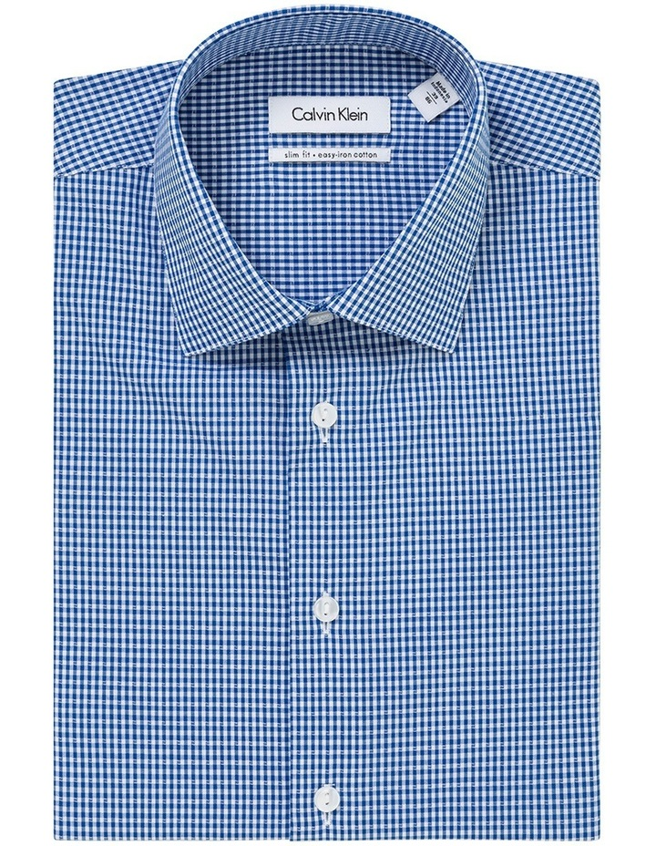 Navy Dobby Gingham Business Shirt image 1