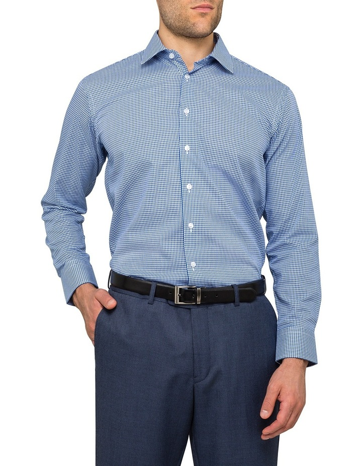 Navy Dobby Gingham Business Shirt image 2
