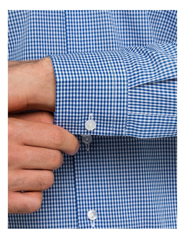 Navy Dobby Gingham Business Shirt image 4