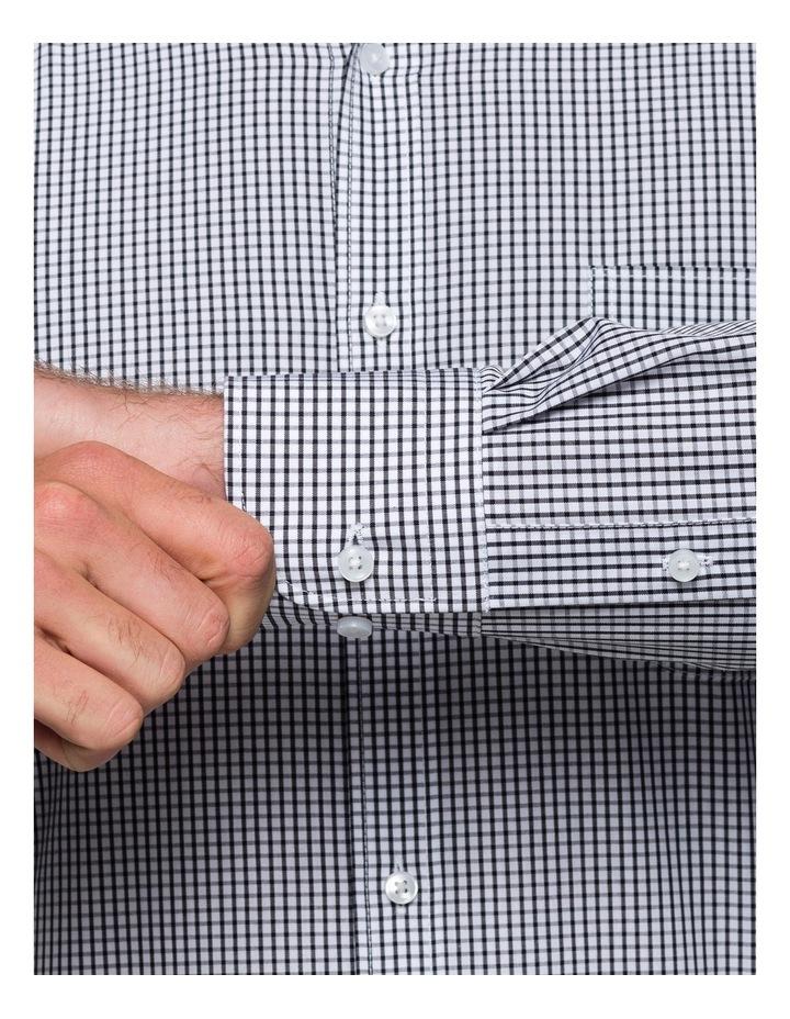 Black Check Business Shirt image 3
