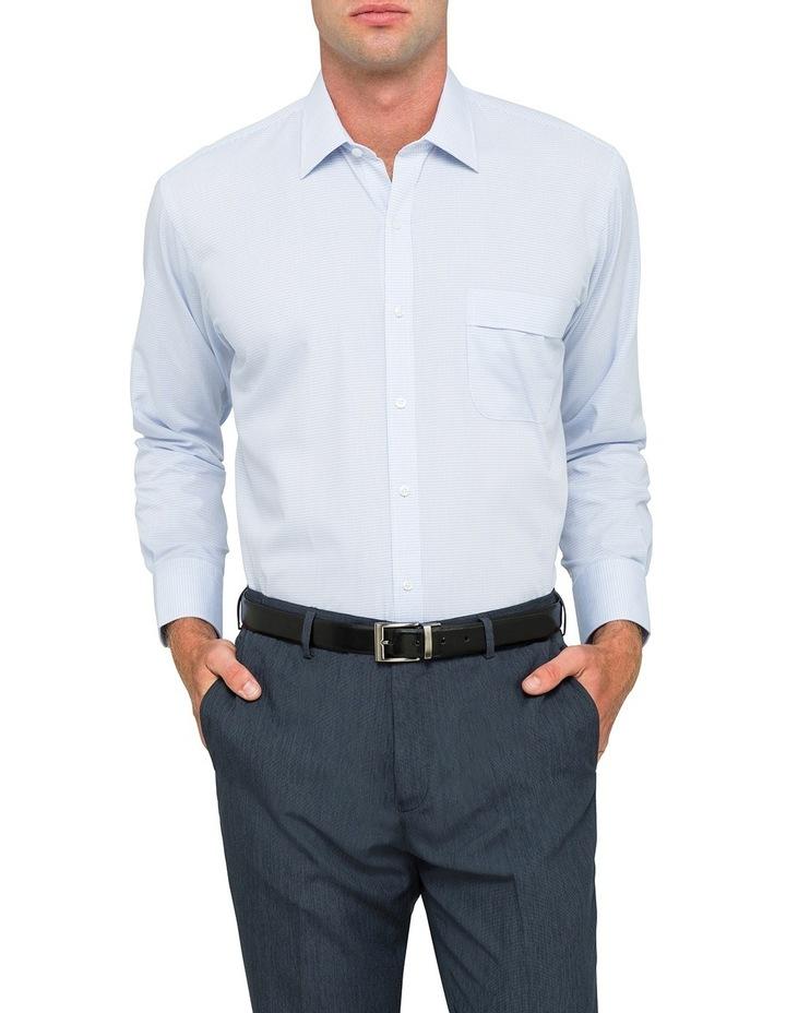 Euro Blue Minicheck Business Shirt Vlem103Z_Ccsb image 1