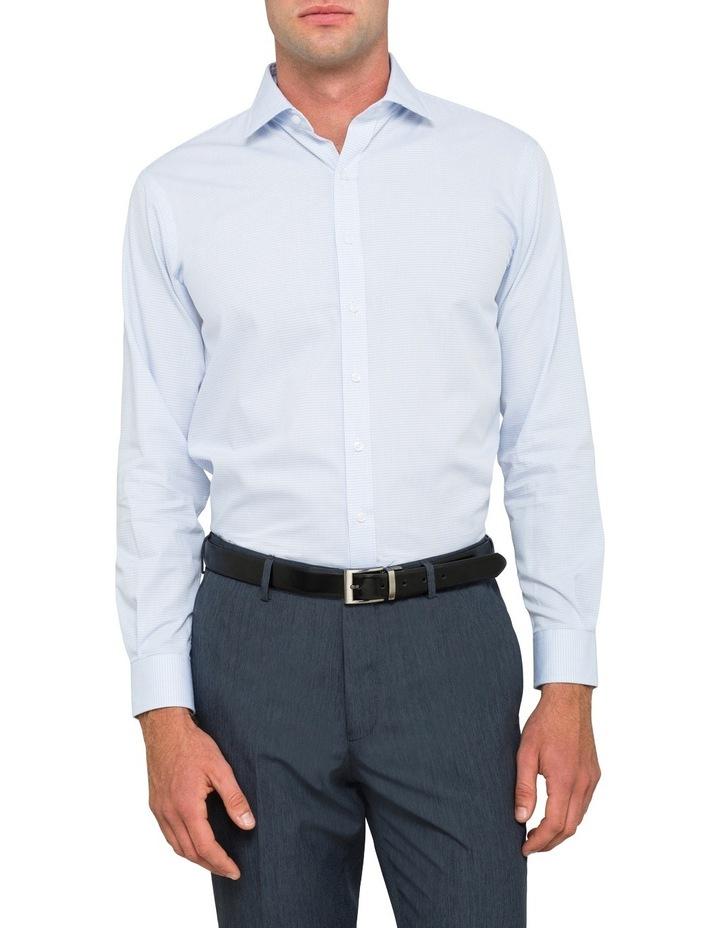 Euro Blue Minicheck Business Shirt Vlem103Z_Ccsb image 2