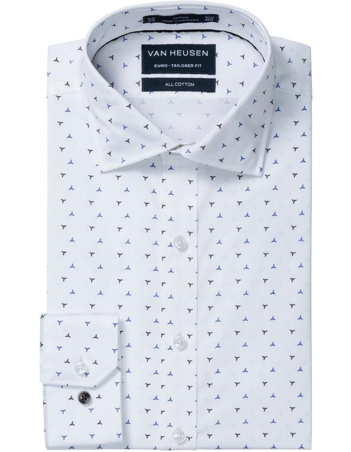 Euro White Ground V Print Business Shirt image 1