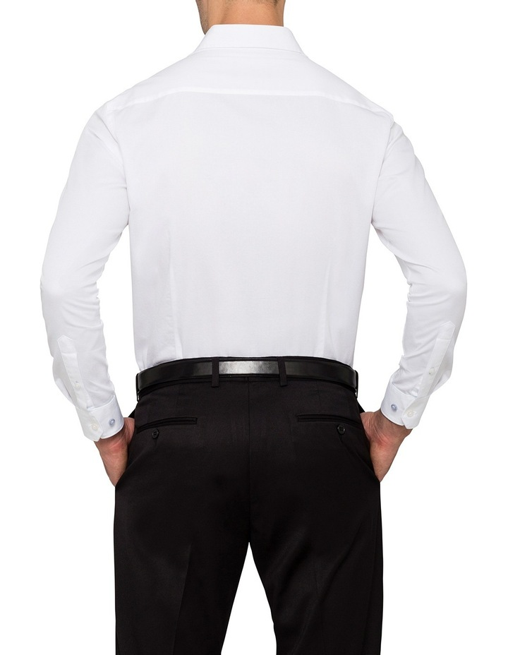 Slim Washed White Solid Business Shirt image 2