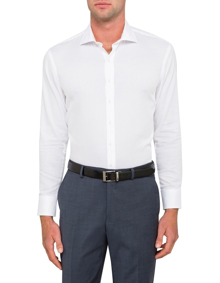 Pierre Cardin White Dobby Business Shirt image 1