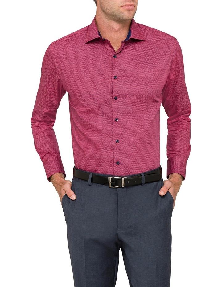 Red & Navy Geo Print Business Shirt image 1