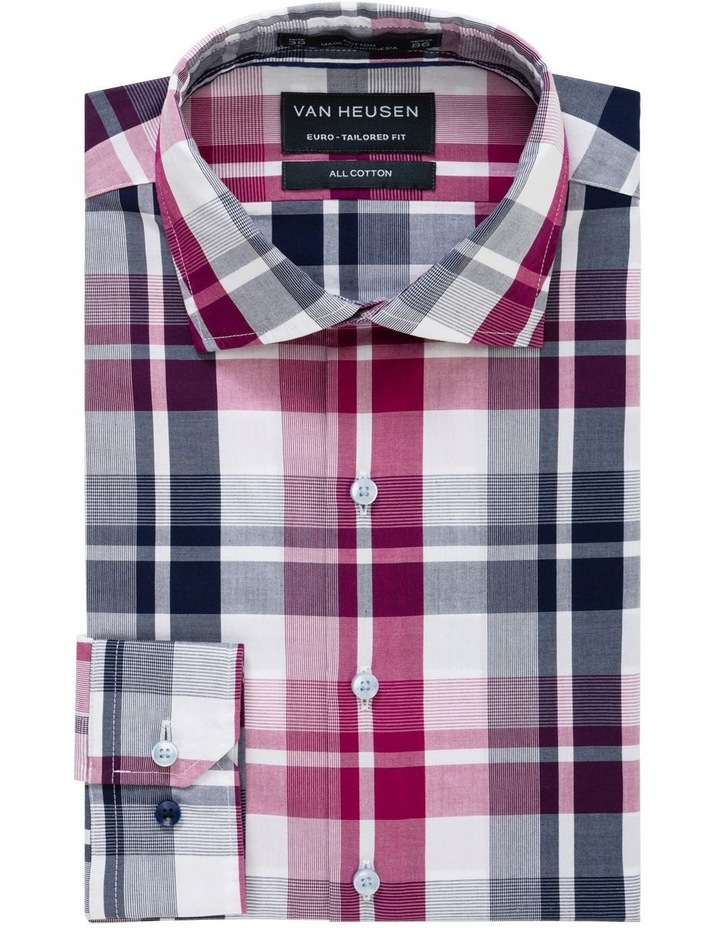 Euro Washed Cherise Check Business Shirt image 1