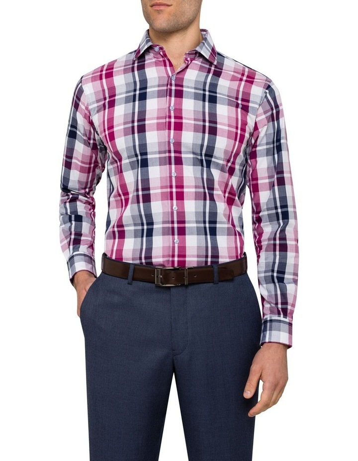 Euro Washed Cherise Check Business Shirt image 2