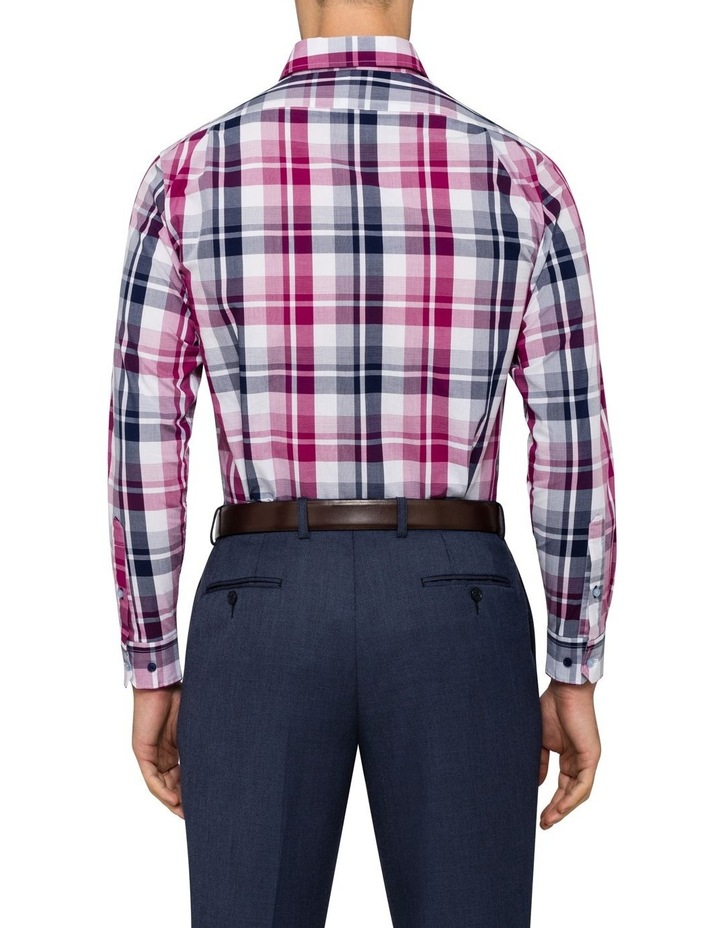 Euro Washed Cherise Check Business Shirt image 3